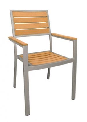 Aluminum Teak Chair Jpg