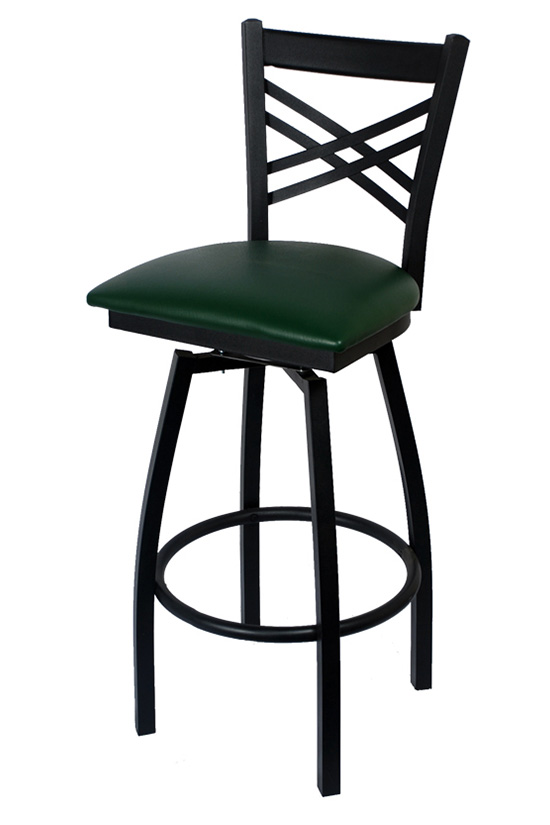 Swivel X Back Metal Bar Stool Seating Masters Restaurant