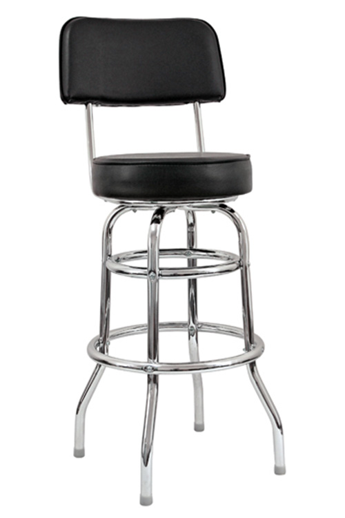 Swivel Bar Stool With A Double Single Ring