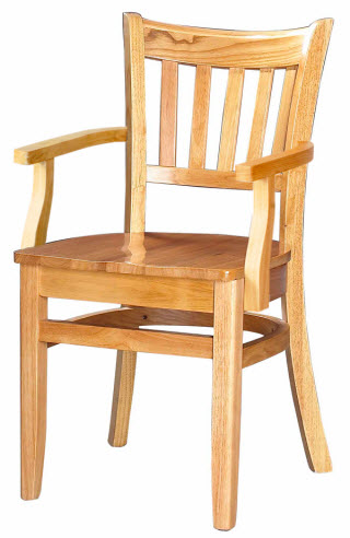 Premium Vertical Slat Wood Chair With Arms