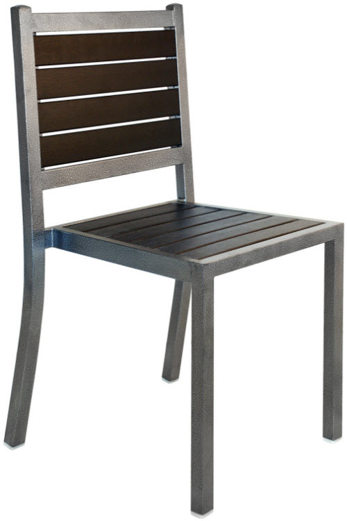 Plastic Teak And Metal Patio Chair Seating Masters