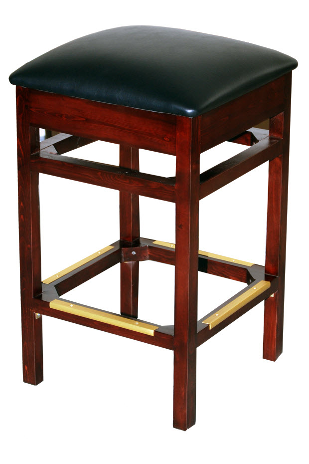 Premium Backless Wood Bar Stool