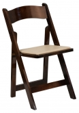 Wood Folding Chair with Padded Seat