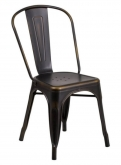 Distressed Bronze Bistro Style Metal Chair