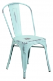 Distressed Ice Blue Bistro Style Chair