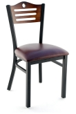 Interchangeable Back Metal Chair with Slats & Circle