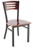Interchangeable Back Metal Chair with 3 Slats