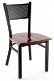 Metal Checker Back Chair