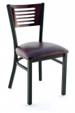 Interchangeable Back Metal Chair with 5 Slats