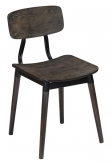 Slate Black Metal Restaurant Chair