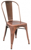 Bistro Style Metal Chair in Copper Finish