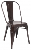 Bistro Style Metal Chair in Brown Finish
