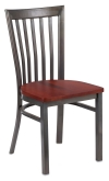 Clear Coat Elongated Back Metal Chair