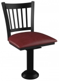 Vertical Slat Bolt Down Swivel Metal Chair