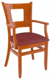 Premium US Made Chicago Series Wood Chair With Arms