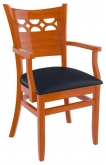 Premium US Made Venice Series Wood Chair With Arms